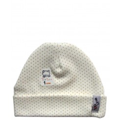 خريد اينترنتي سيسموني نوزاد کلاه استرچ دخترانه خالدار تاپ لاین Top Line نوزادی، نی نی لازم فروشگاه اینترنتی سیسمونی