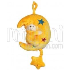 عروسک نخکش موزیکال ماه و ستاره زرد