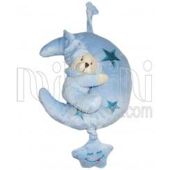 خريد اينترنتي سيسموني نوزاد عروسک نخکش موزیکال  پولیشی ماه و ستاره آبی - 1 نوزادی، نی نی لازم فروشگاه اینترنتی سیسمونی