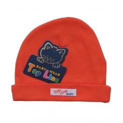خريد اينترنتي سيسموني نوزاد کلاه استرچ (نارنجی) تاپ لاین Top Line نوزادی، نی نی لازم فروشگاه اینترنتی سیسمونی