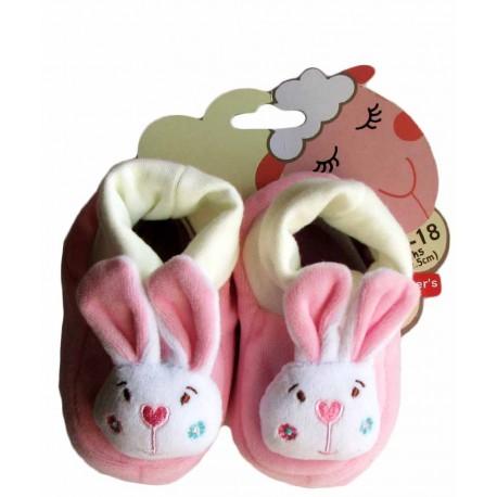 پاپوش نوزاد خرگوش صورتی کارترز Carters - 1