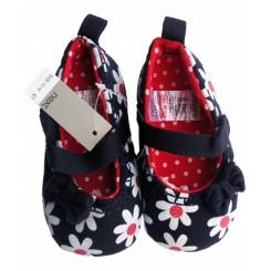 کفش دخترانه سرمه ای گلدار نکست Next
