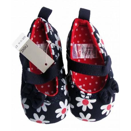 کفش دخترانه سرمه ای گلدار نکست Next - 1