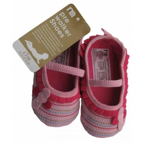 کفش صورتی دوختی دخترانه مادرکر Mothercare - 1