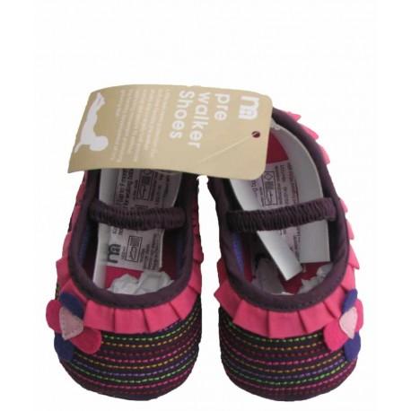 کفش بنفش دوختی دخترانه مادرکر Mothercare - 1