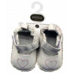 کفش دخترانه سفید قلب دار مکس Mexx