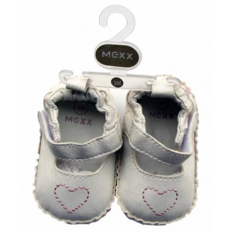 کفش دخترانه سفید قلب دار مکس Mexx - 1