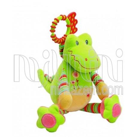 آویز جغجغه ای دایناسور سبز جولی بی بی Jollybaby - 1