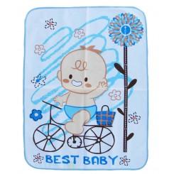 خريد اينترنتي سيسموني نوزاد زیرانداز کوچک طرح دوچرخه و قایق بست بی بی Best Baby - 1 نوزادی، نی نی لازم فروشگاه اینترنتی سیسمونی
