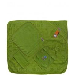خريد اينترنتي سيسموني نوزاد سرویس حوله چهار تکه رنگی (سبز یشمی) تاپ لاین Top Line - 1 نوزادی، نی نی لازم فروشگاه اینترنتی سیسمونی
