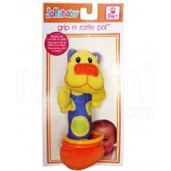 خريد اينترنتي سيسموني نوزاد جغجغه دستی شیر زرد جولی بی بی Jollybaby - 1 نوزادی، نی نی لازم فروشگاه اینترنتی سیسمونی