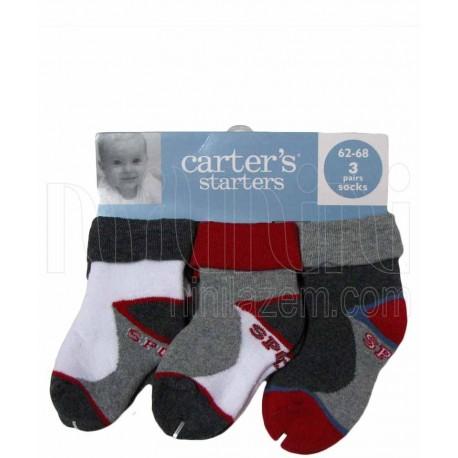 جوراب حوله ای 3جفتی کارترز Carters - 1