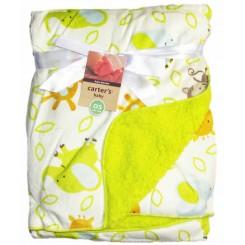پتوی نوزادی طرح فیل و آهو سبز کارترز Carters