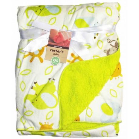 پتوی نوزادی طرح فیل و آهو سبز کارترز Carters - 1