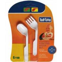 خريد اينترنتي سيسموني نوزاد قاشق چنگال تاپ لاین Top Line - 1 نوزادی، نی نی لازم فروشگاه اینترنتی سیسمونی