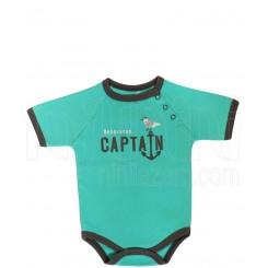 لباس پسرانه به آوران مدل کاپیتان زیر دکمه دار آستین کوتاه Behavaran