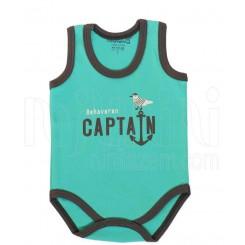خريد اينترنتي سيسموني نوزاد لباس پسرانه به آوران مدل کاپیتان زیر رکابی  Behavaran نوزادی، نی نی لازم فروشگاه اینترنتی سیسمونی
