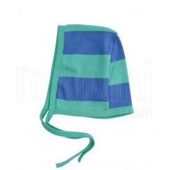 به آوران مدل راه راه سبز و آبی کلاه بندی پسرانه Behavaran