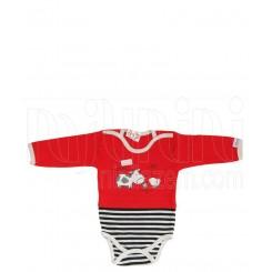 خريد اينترنتي سيسموني نوزاد به آوران مدل فارم زیر دکمه آستین بلند پسرانه Behavaran نوزادی، نی نی لازم فروشگاه اینترنتی سیسمونی