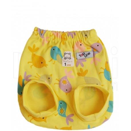 شورت پوشکی تمام چاپ دخترانه طرح جوجه زرد تاپ لاین Topline - 1