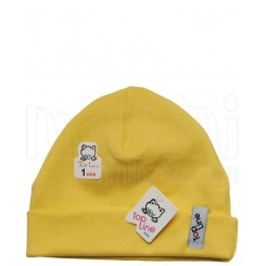 خريد اينترنتي سيسموني نوزاد کلاه استرچ دخترانه طرح جوجه زرد تاپ لاین Topline نوزادی، نی نی لازم فروشگاه اینترنتی سیسمونی