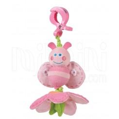 پلی گرو - آویز کریر ویبره دار زنبورک صورتی Playgro