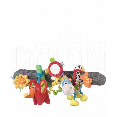 پلی گرو - عروسک آویز کالسکه و تخت مارپیچ اسب و فیل Playgro - 1