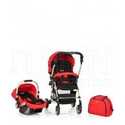 خريد اينترنتي سيسموني نوزاد سرویس کالسکه مبله کاپلا 3 تیکه قرمز Capella نوزادی، نی نی لازم فروشگاه اینترنتی سیسمونی