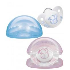 خريد اينترنتي سيسموني نوزاد پستانک با محافظ Rose & Blue ناک Nuk - 1 نوزادی، نی نی لازم فروشگاه اینترنتی سیسمونی