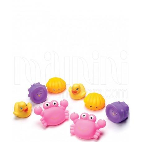پلی گرو - پوپت حمام آب پران حیوانات صورتی Playgro