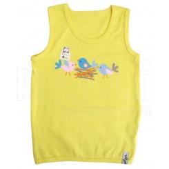 بلوز رکابی تک چاپ دخترانه طرح جوجه زرد تاپ لاین (سایز4،5،6) Topline