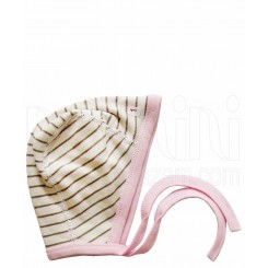 خريد اينترنتي سيسموني نوزاد کلاه بندی نوزادی دخترانه طرح صورتی راه راه دولو Davalloo نوزادی، نی نی لازم فروشگاه اینترنتی سیسمونی