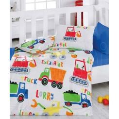 ست ملحفه نوزادی کامیون کاتن باکس Cotton box Santiye