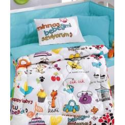ست لحاف و ملحفه نوزادی شاد کودکانه کاتن باکس Cotton box