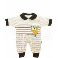 خريد اينترنتي سيسموني نوزاد سرهمی پسرانه طرح میمون تاپ لاین Topline نوزادی، نی نی لازم فروشگاه اینترنتی سیسمونی