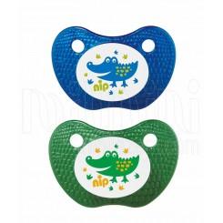 پستانک ارتودنسی دو عددی Feel طرح تمساح آبی و تمساح سبز نیپ Nip