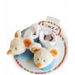 پاپوش کودک موش سفید آبی کنزا Kenza
