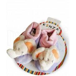 خريد اينترنتي سيسموني نوزاد پاپوش کودک فیل سفید یاسی کنزا Kenza نوزادی، نی نی لازم فروشگاه اینترنتی سیسمونی