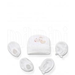 ست کلاه دستکش پاپوش خرس ماهیگیر لاکی بی بی Lucky Baby