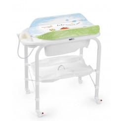 خريد اينترنتي سيسموني نوزاد وان پایه دار حمام کودک همراه با تشک تعویض طرح نقاشی برند کم Cam نوزادی، نی نی لازم فروشگاه اینترنتی سیسمونی