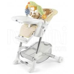خريد اينترنتي سيسموني نوزاد صندلی غذا خوری بچگانه طرح خرس همراه با آویز برند کم Cam نوزادی، نی نی لازم فروشگاه اینترنتی سیسمونی