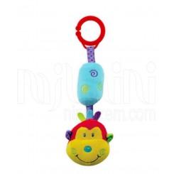 خريد اينترنتي سيسموني نوزاد آویز زنگوله دار عروسکی میمون بیبی میکس Baby Mix  نوزادی، نی نی لازم فروشگاه اینترنتی سیسمونی