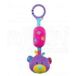 خريد اينترنتي سيسموني نوزاد آویز جغجغه ای عروسکی خرس بیبی میکس Baby Mix نوزادی، نی نی لازم فروشگاه اینترنتی سیسمونی