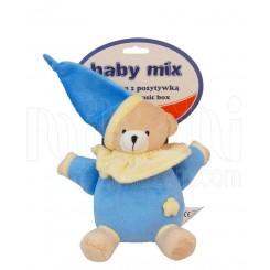 عروسک نخکش موزیکال خرس آبی پوش بی بی میکس Baby Mix