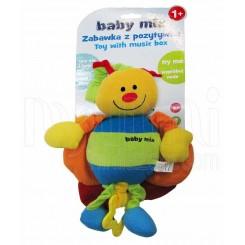 خريد اينترنتي سيسموني نوزاد عروسک نخکش موزیکال زنبور بی بی میکس Baby Mix نوزادی، نی نی لازم فروشگاه اینترنتی سیسمونی