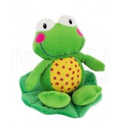 خريد اينترنتي سيسموني نوزاد عروسک نخکش ویبره دار قورباغه سبز بی بی میکس Baby Mix نوزادی، نی نی لازم فروشگاه اینترنتی سیسمونی