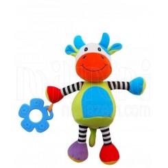 خريد اينترنتي سيسموني نوزاد عروسک دندانگیر پولیشی گاو بی بی میکس Baby Mix نوزادی، نی نی لازم فروشگاه اینترنتی سیسمونی