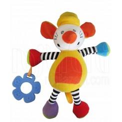 خريد اينترنتي سيسموني نوزاد عروسک پولیشی و دندانگیر موش زرد نارنجی بی بی میکس Baby Mix نوزادی، نی نی لازم فروشگاه اینترنتی سیسمونی