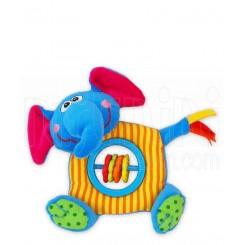 عروسک پولیشی جغجغه ای فیل آبی بی بی میکس Baby Mix