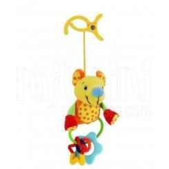 خريد اينترنتي سيسموني نوزاد عروسک پولیشی جغجغه ای گیره دار موش بی بی میکس Baby Mix نوزادی، نی نی لازم فروشگاه اینترنتی سیسمونی